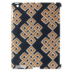 Geometric Cut Velvet Drapery Upholstery Fabric Apple Ipad 3/4 Hardshell Case (compatible With Smart Cover) by Jojostore