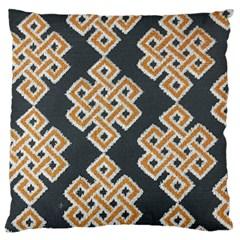 Geometric Cut Velvet Drapery Upholstery Fabric Large Cushion Case (one Side) by Jojostore