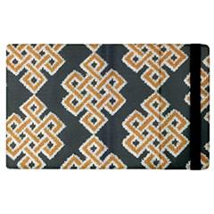 Geometric Cut Velvet Drapery Upholstery Fabric Apple Ipad 2 Flip Case by Jojostore