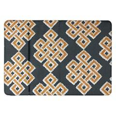 Geometric Cut Velvet Drapery Upholstery Fabric Samsung Galaxy Tab 8 9  P7300 Flip Case by Jojostore