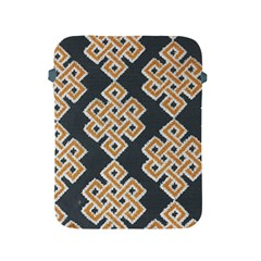 Geometric Cut Velvet Drapery Upholstery Fabric Apple Ipad 2/3/4 Protective Soft Cases by Jojostore
