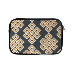 Geometric Cut Velvet Drapery Upholstery Fabric Apple Ipad Mini Zipper Cases by Jojostore