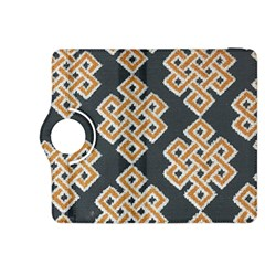 Geometric Cut Velvet Drapery Upholstery Fabric Kindle Fire Hdx 8 9  Flip 360 Case by Jojostore