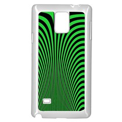 Green Optical Illusion Samsung Galaxy Note 4 Case (white) by Jojostore