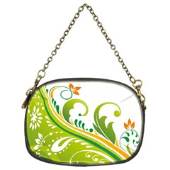 Leaf Flower Green Floral Chain Purses (two Sides)  by Jojostore