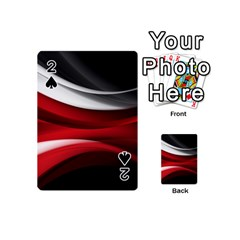 Lines Red Playing Cards 54 (Mini)  by Jojostore