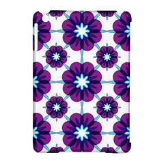 Link Scheme Analogous Purple Flower Apple Ipad Mini Hardshell Case (compatible With Smart Cover) by Jojostore