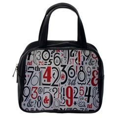 Number Classic Handbags (one Side) by Jojostore