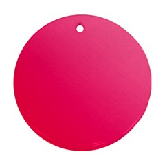 Pink Color Round Ornament (two Sides) by Jojostore