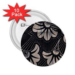 Printed Fan Fabric 2.25  Buttons (10 pack)  by Jojostore