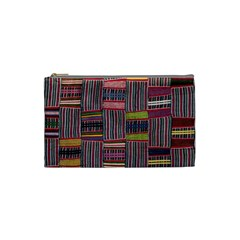 Strip Woven Cloth Color Cosmetic Bag (small)  by Jojostore