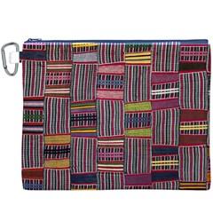 Strip Woven Cloth Color Canvas Cosmetic Bag (xxxl) by Jojostore