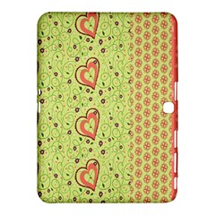 Organic Geometric Design Love Flower Samsung Galaxy Tab 4 (10 1 ) Hardshell Case  by Jojostore