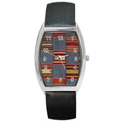 Strip Woven Cloth Barrel Style Metal Watch by Jojostore