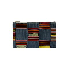 Strip Woven Cloth Cosmetic Bag (small)  by Jojostore