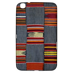 Strip Woven Cloth Samsung Galaxy Tab 3 (8 ) T3100 Hardshell Case  by Jojostore