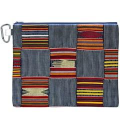 Strip Woven Cloth Canvas Cosmetic Bag (xxxl) by Jojostore