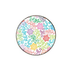 Texture Flowers Floral Seamless Hat Clip Ball Marker by Jojostore