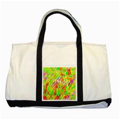Cheerful Phantasmagoric Pattern Two Tone Tote Bag