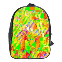 Cheerful Phantasmagoric Pattern School Bags(large)  by Amaryn4rt