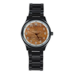 Circuit Board Stainless Steel Round Watch by Amaryn4rt