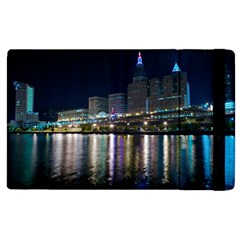 Cleveland Building City By Night Apple Ipad 2 Flip Case