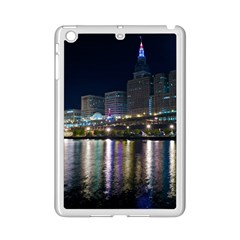 Cleveland Building City By Night iPad Mini 2 Enamel Coated Cases by Amaryn4rt