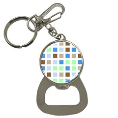 Colorful Green Background Tile Pattern Button Necklaces