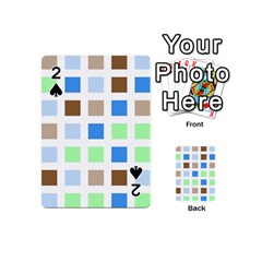 Colorful Green Background Tile Pattern Playing Cards 54 (mini)  by Amaryn4rt