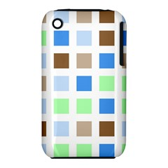 Colorful Green Background Tile Pattern Iphone 3s/3gs by Amaryn4rt