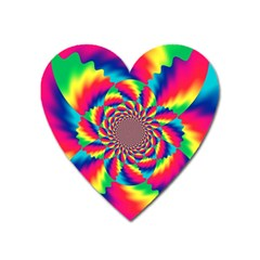 Colorful Psychedelic Art Background Heart Magnet by Amaryn4rt