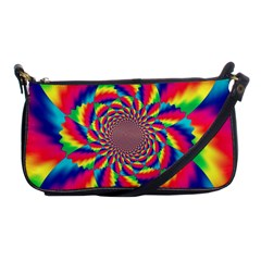 Colorful Psychedelic Art Background Shoulder Clutch Bags by Amaryn4rt