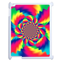 Colorful Psychedelic Art Background Apple Ipad 2 Case (white) by Amaryn4rt