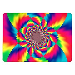 Colorful Psychedelic Art Background Samsung Galaxy Tab 10 1  P7500 Flip Case by Amaryn4rt