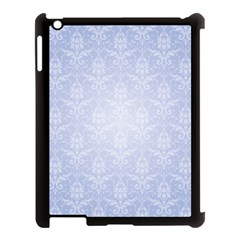 Damask Pattern Wallpaper Blue Apple Ipad 3/4 Case (black) by Amaryn4rt