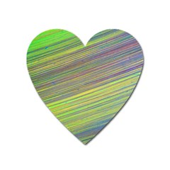 Diagonal Lines Abstract Heart Magnet by Amaryn4rt