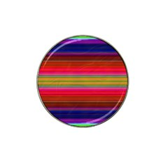 Fiesta Stripe Colorful Neon Background Hat Clip Ball Marker (4 Pack)