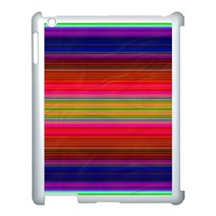 Fiesta Stripe Colorful Neon Background Apple Ipad 3/4 Case (white) by Amaryn4rt