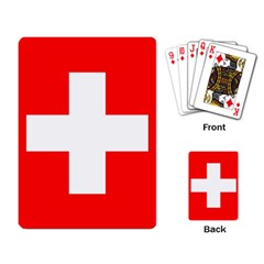 Flag Of Switzerland Playing Card
