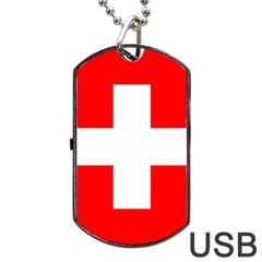 Flag Of Switzerland Dog Tag Usb Flash (two Sides)