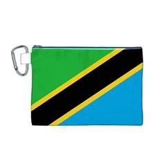 Flag Of Tanzania Canvas Cosmetic Bag (m)