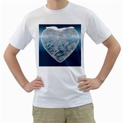 Frozen Heart Men s T-Shirt (White) (Two Sided) by Amaryn4rt