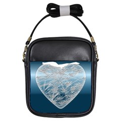 Frozen Heart Girls Sling Bags by Amaryn4rt