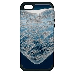 Frozen Heart Apple Iphone 5 Hardshell Case (pc+silicone) by Amaryn4rt