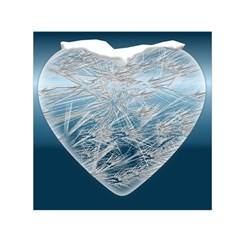 Frozen Heart Small Satin Scarf (square) by Amaryn4rt