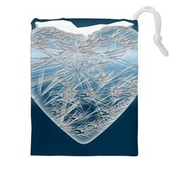 Frozen Heart Drawstring Pouches (xxl)