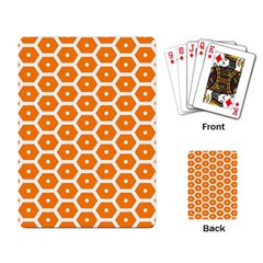 Golden Be Hive Pattern Playing Card by Amaryn4rt