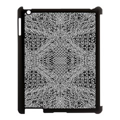 Gray Psychedelic Background Apple Ipad 3/4 Case (black) by Amaryn4rt