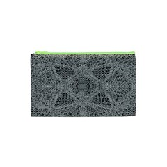 Gray Psychedelic Background Cosmetic Bag (xs) by Amaryn4rt
