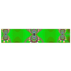 Green And Purple Fractal Flano Scarf (small) by Amaryn4rt